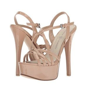 Chinese Laundry Teaser Nude patent heels